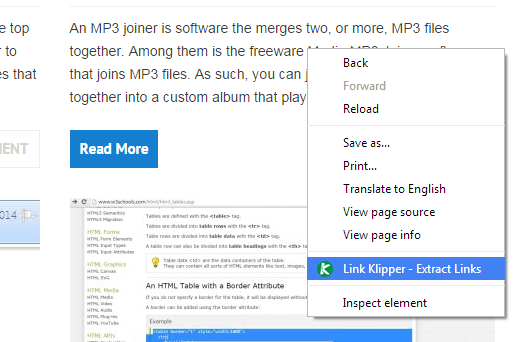 Extract all links Chrome b