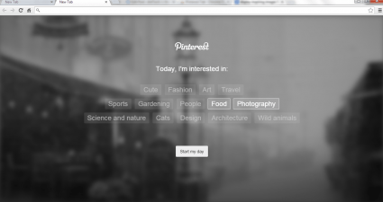 Pinterest Tab Chrome