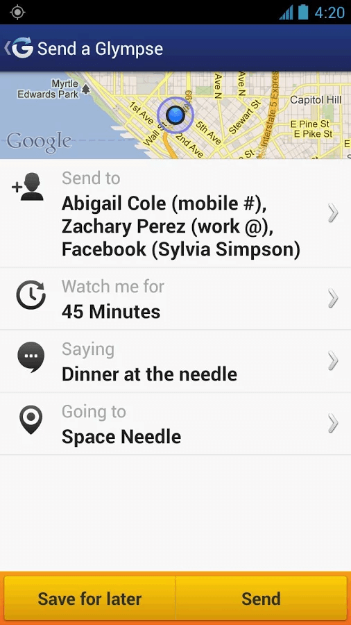 Share GPS Android c