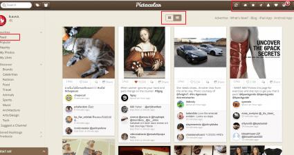 browse Instagram like Pinterest c