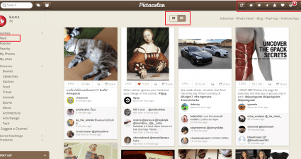 browse Instagram like Pinterest c
