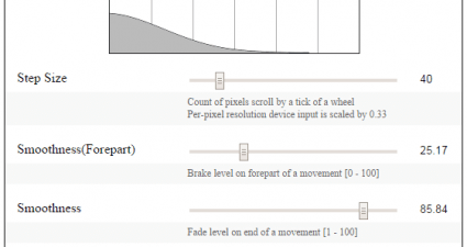 enable smooth scrolling in Chrome b