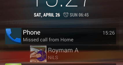 notifications on lock screen Android e