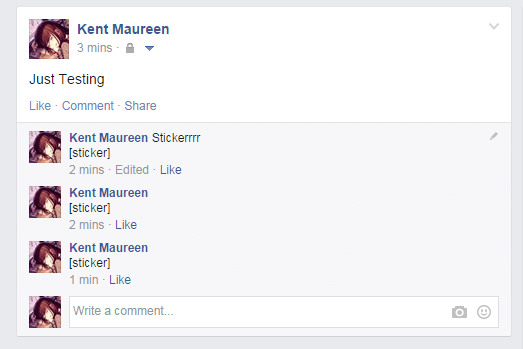 remove stickers on fb post comments chrome b