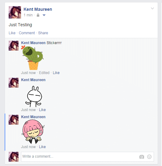 remove stickers on fb post comments chrome