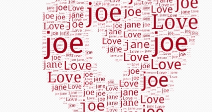 text art using custom text Android e