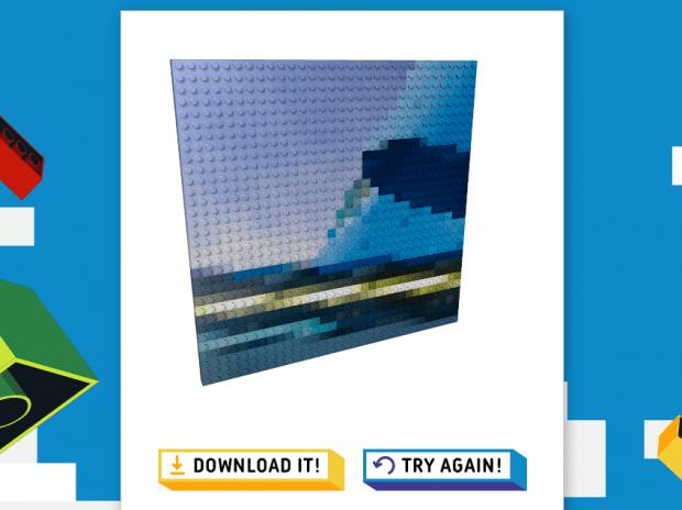 turn images to LEGO bricks mosaic b