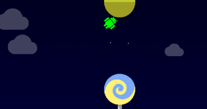 Android Lollipop Easter Egg game