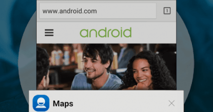 Android Lollipop Recent Apps Menu