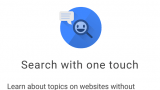 Chrome Touch to Search Android