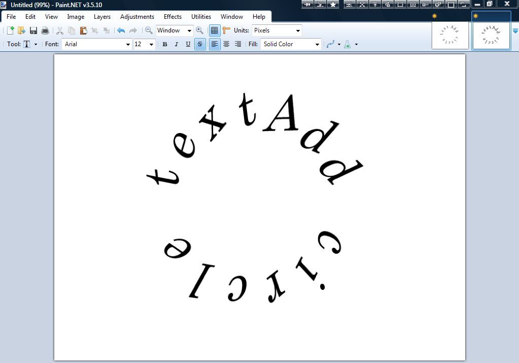 How To Make Curved Text In Paint Net