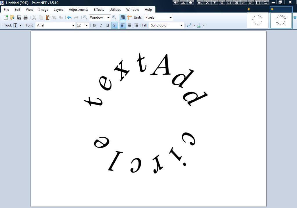 Paint Net Bend Text
