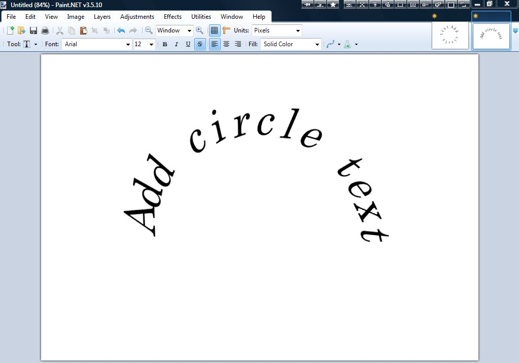 how to write around a circle in publisher 2010