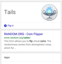 Flip a Coin Google Search Android