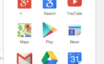 Google Shortcuts in Chrome Toolbar