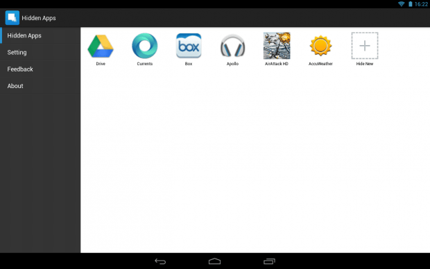 Hide apps Android