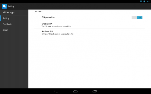 Hide apps Android c