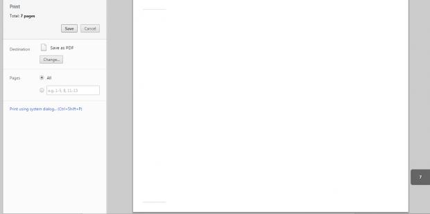 Print as PDF in Landscape