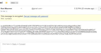 SecureGmail Encrypt Gmail Messages c