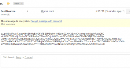 SecureGmail Encrypt Gmail Messages c