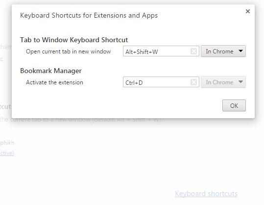 Tab to Window Chrome