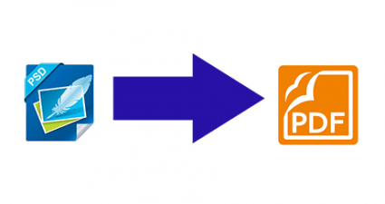 convert PSD to PDF online