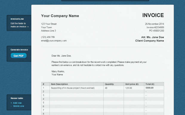 create an invoice online