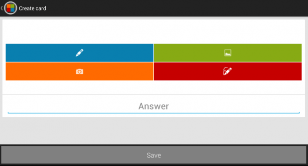 create flash cards android c