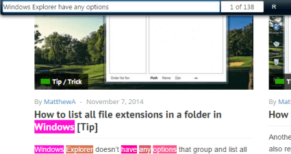 highlight multiple words text Chrome b