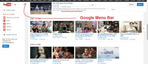 Google Menu Bar