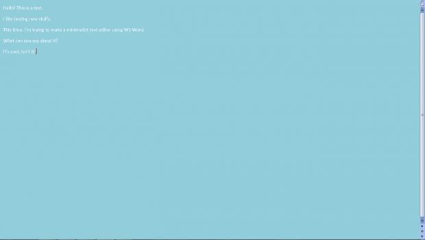 Minimalist MS Word 2007