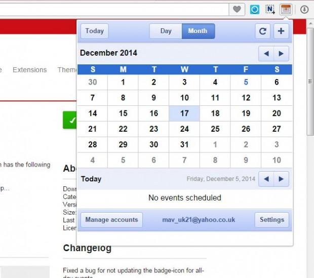 Opera Google Calendar2