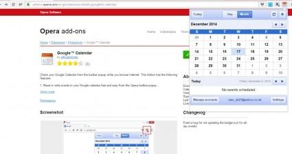 Opera Google Calendar4