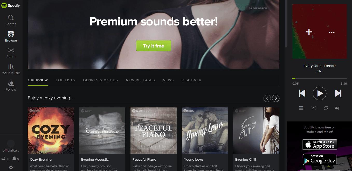 Spotify chrome