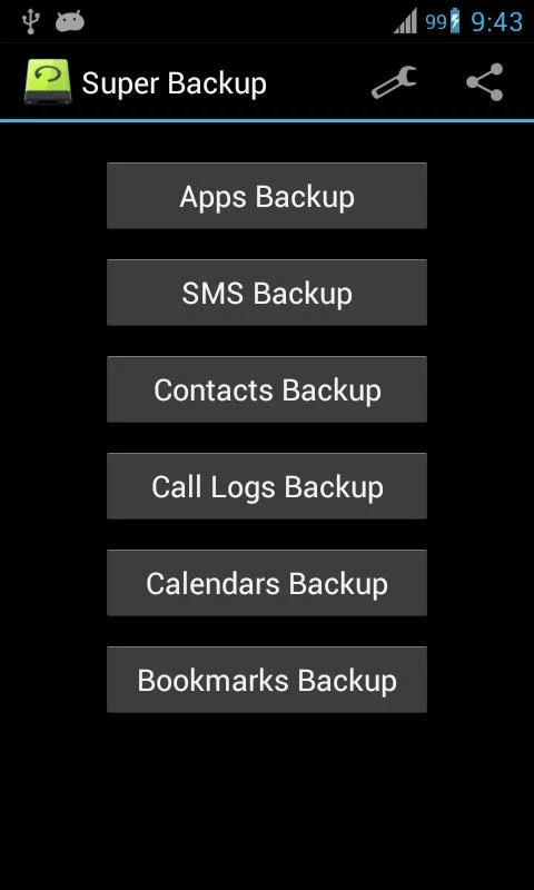 back up contacts and call logs in Android b