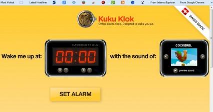 browser alarm