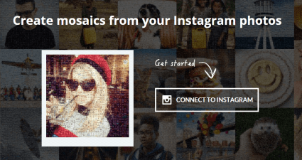 create mosaic out of Instagram photos