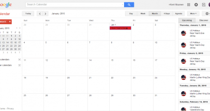 keep track of events and schedules in Google Calendar d