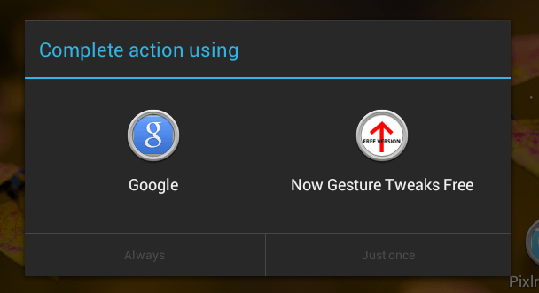 replace swipe up gesture Android c