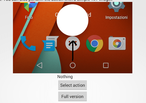 replace swipe up gesture Android