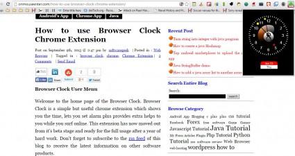 Browser Clock6