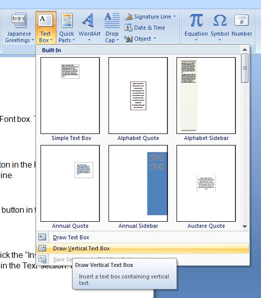 Draw Vertical Text Box