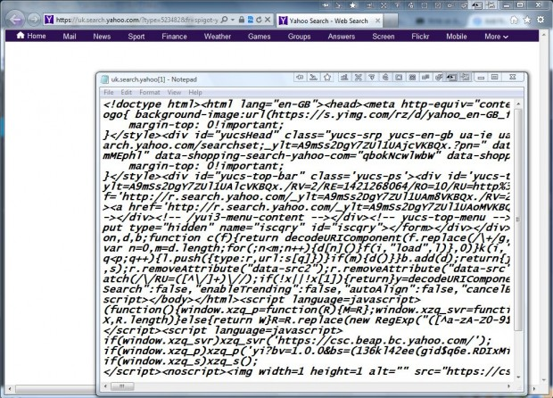 IE page source2