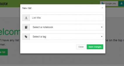 Kanbanote Evernote as Trello