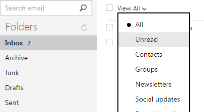 Mark all unread emails as read in Outlook