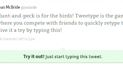 Tweetype Improve Typing Speed