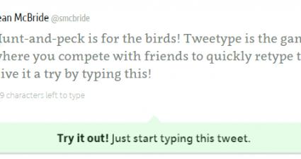 Tweetype Improve Typing Speed