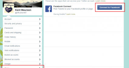 automatically post tweets to Facebook
