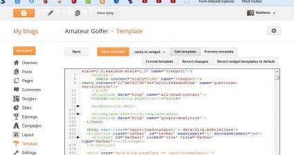 blog HTML