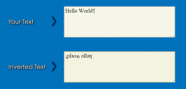 create inverted text online